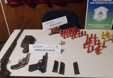 Policiales/ Allanan y secuestran armas